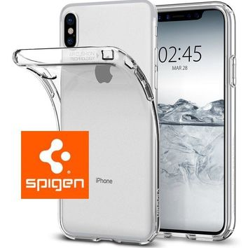 iPhone X Case Genuine Spigen [Liquid Crystal] Case Cover Slim Protection - Clear