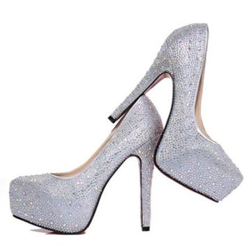 Bridal Wedding Platform High Heels Prom Shoes