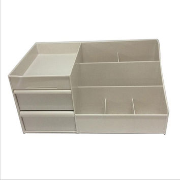 Drawer Type Organizer Comestics Sotrage Box   3126 XL khaki