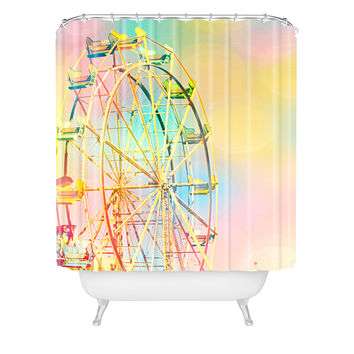Shannon Clark Ferris Wheel Fun Shower Curtain