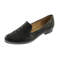 Naturalizer Womens Lerato Leather Studded Smoking Loafers
