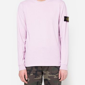 Stone Island / Cotton Jersey LS T-Shirt in Rose Quartz