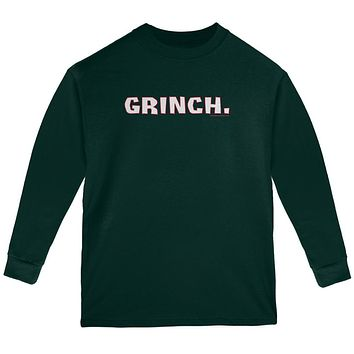 Christmas Grinch Youth Long Sleeve T Shirt