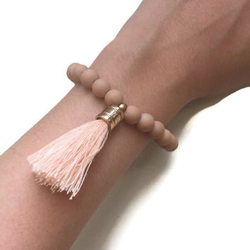 Bohemian Neutral Tassel Bracelet [6 Colors] - PeysDesign