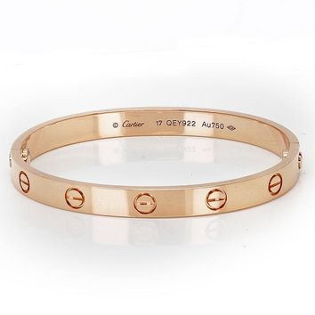 New Cartier Love Bracelet 18K Rose Gold