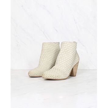 Sbicca - Parkman Woven Leather Booties - Beige