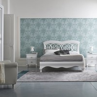Lacquered double bed SYMFONIA Symfonia Night Collection by Dall'Agnese | design Imago Design, Arbet Design