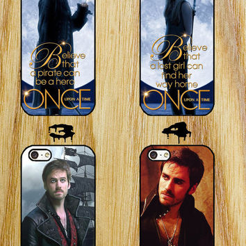 once upon a time captain hook iPhone 4/4S/5/5S/5C/6 Samsung Galaxy S3/S4/S5 custom case