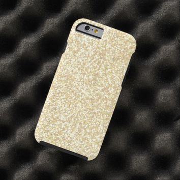 Cool Light Gold Glitter Tough iPhone 6 Case