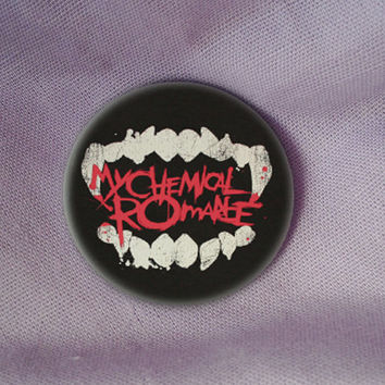 my chemical romance mcr my chem emo logo badge pin button