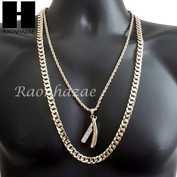Best blade necklace products on wanelo men iced out barber shop blade diamond cut 30 cuban link chain thecheapjerseys Choice Image