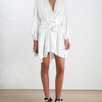 Empire Sueded Robe Dress