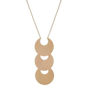 Triple Crescent Necklace - Gold