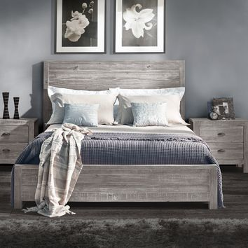 Peyton Solid Eco-Friendly Pine Wood Panel Bed