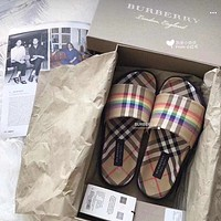 '' BURBERRY '' Women the rainbow Slipper Shoes