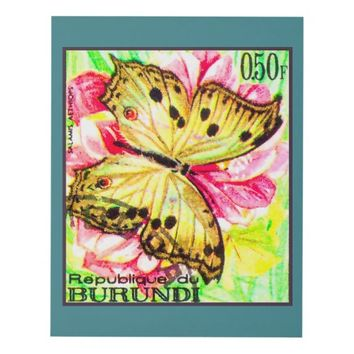 Butterfly Salamis Aethiops Panel Wall Art
