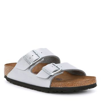 Birkenstock Arizona Metallic Double Banded Buckle Slip On Sandals | Dillards