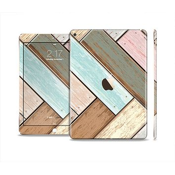 The Zigzag Vintage Wood Planks Skin Set for the Apple iPad Air 2