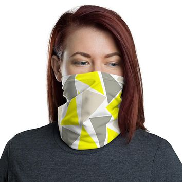 Gray and yellow face mask