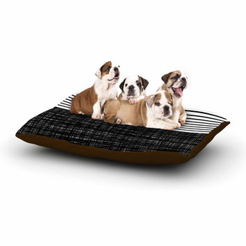 "Trebam ""Platno (with Black Stripes)"" Black White Dog Bed"