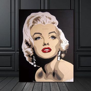 Canvas Painting Wall Art Pictures prints Marilyn Monroe on canvas no frame home decor  Wall poster decoration for living room