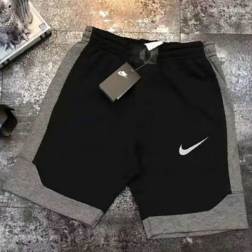 """NIKE"" Fashion Reflective Logo Casual Beach Pants Summer Sports Cotton Shorts G-YF-MLBKS"