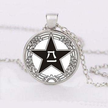 Chinese Symbol Cabochon Necklace