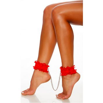 Red Ankle Cuffs