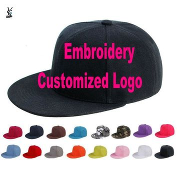 Trendy Winter Jacket Custom Embroidered Hats Cap For Girls Boys Cuatomized Cartoon Name Children Cap Adult Hip-Hop Flat Baseball Cap For Summer YY141 AT_92_12