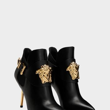 Versace Palazzo High Heel Booties for Women | US Online Store