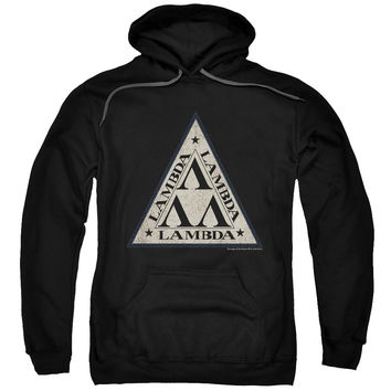 Revenge of the Nerds Tri Lambda Logo Black Hooded Sweatshirt
