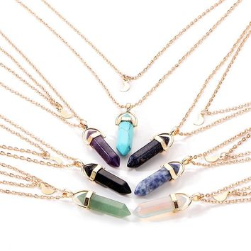 Moon Child Necklace 8 Different Crystals