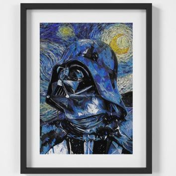 Darth Vader Star Wars Starry Night Print - A2 A3 A4 - FREE Shipping - 4 for 2 | eBay