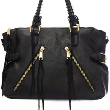 Urban Expressions Aiden Black Tote