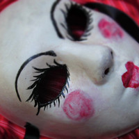 Babydoll Mask for Costume/Halloween/Cosplay by effigymasks on Etsy