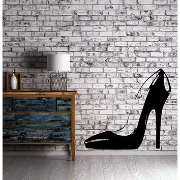 Sexy High Heel Shoe Hot Stilettos Wall Decor Mural Vinyl Decal Art Sticker Unique Gift M572