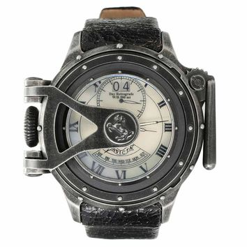 Invicta 18591 Men's Vintage Chatham and Dover Lefty MOP Dial Black Leather Strap Dive Watch