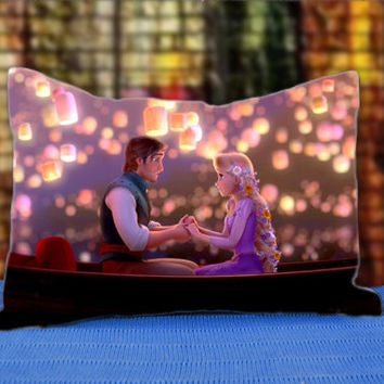 "Tangled Walt Disney Animation - Custom Pillow Case - SoftLightPillow - Size 30"" x 20"""