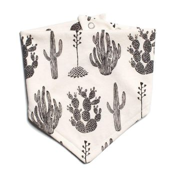 Cactus Black Kerchief Bib by Winter Water Factory