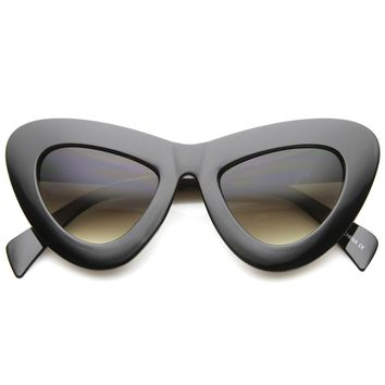 Womens Cat Eye Sunglasses With UV400 Protected Composite Lens