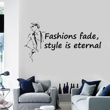Vinyl Wall Decal Fashion Quote Woman Style Beauty Shop Salon Saying Stickers Mural (ig5546)