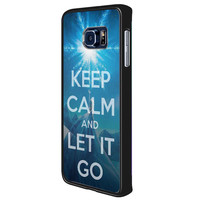 Disney Frozen Keep Calm And Let It Go de985352-866d-4aaf-9e50-204c862da47d for Samsung Galaxy S6 Edge Plus Case *02*
