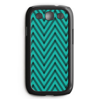 Sketchy Black And Blue Chevron Samsung Galaxy S3 Case