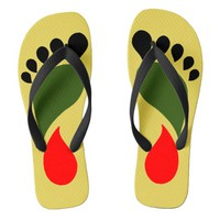 PAN AFRICAN FLAG COLORS FLIP FLOPS