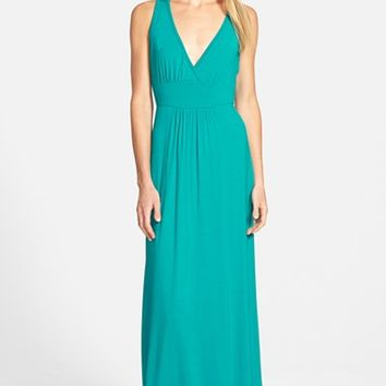 Women's Loveappella V-Neck Jersey Maxi Dress,