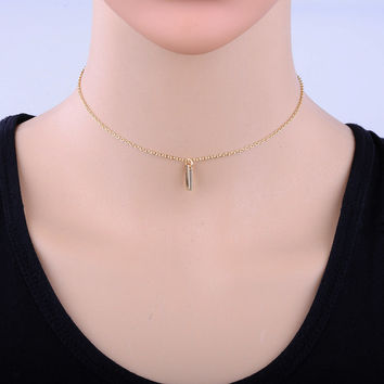 New Fashion Simple Gold Plated Online Shopping India Chain Necklace Vintage Colar Pendant Choker Necklace for Women Gift