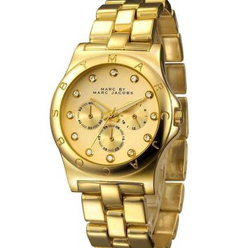 ac NOVQ2A MJ Marc BY Marc Jacobs passion ,deep feeling,shiny, fashion watch L-PS-XSDZBSH Gold