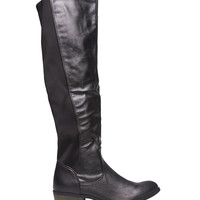 Over The Knee Faux Leather Boots | Wet Seal