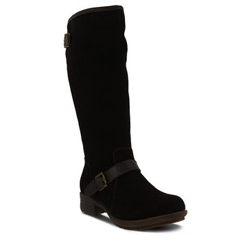 Style Name: BAYTREE- Tall black Suede Water Resistant Boot For Cold Weather