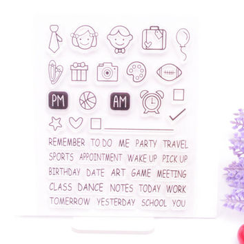 Clear Stamp Scrapbook DIY photo album card hand account chapters chapter rubber product transparent stamp school plan